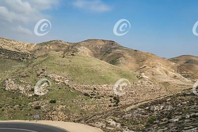 Judaean Desert above Wadi Qelt near Almon Turns Velvet Green in the Winter