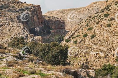 Ancient Byzantine Monastery in Wadi Qelt in the Ein Prat Nature Reserve