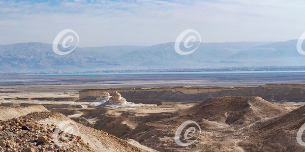 The Dead Sea and Surroundings from the Bottom of Masada
