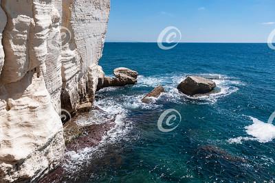 White Chalk Cliffs Near the Rosh Hanikra Grottos