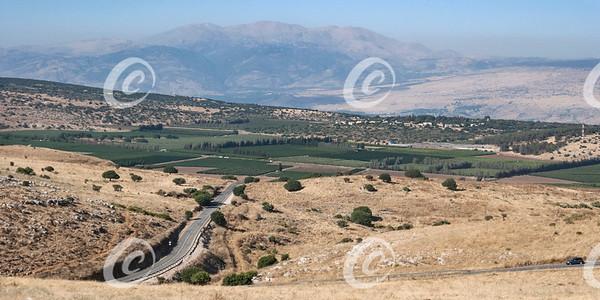 Mount Hermon from Above Kiryat Shmona in the Golan Heights