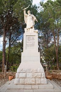 Statue of Elijah on Mount Carmel