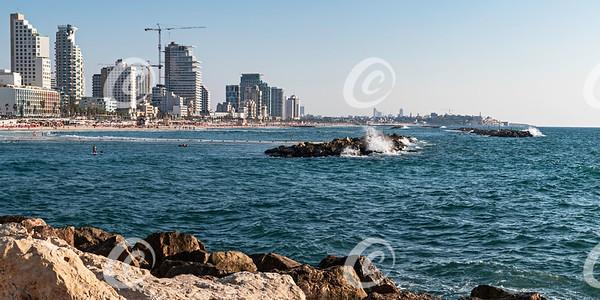 Tel Aviv-Yafo Israel Beaches and Breakwater