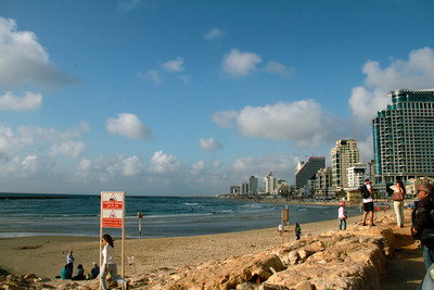 Tel Aviv on the Mediterranean Sea