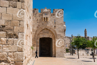 Jaffa Gate and the Tower of David of Old City Jerusalem