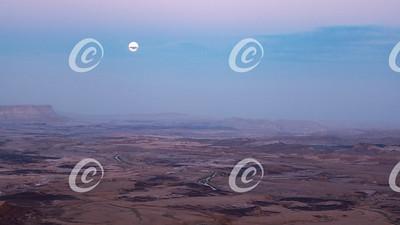Moonrise Over Mars - Maktesh Ramon Crater in Israel