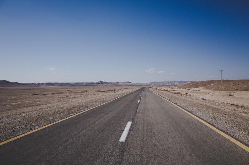In der Negev Wüste
