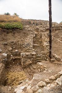 Steps in Megiddo built during Soloman's reign