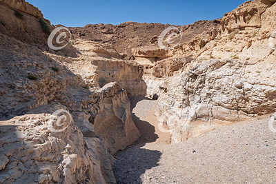 Entrance to the Horseshoe Section of Nahal Nekarot Steam in the Makhtesh Ramon Crater in Israel