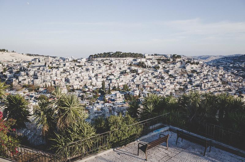 Blick auf ein Wohnviertel von Jerusalem
