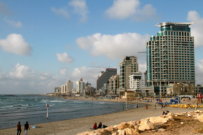 Tel Aviv by the sea.