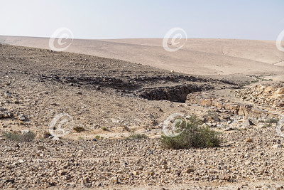 Top of a Small Canyon in the Judean Desert in Israel