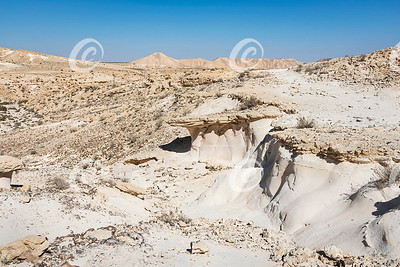 Chalk Formations on Ramat Divshon in the Zin Wilderness in Israel