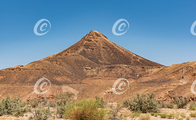 Harut Cone Hill from Wadi Ardon in the Makhtesh Ramon Crater in Israel