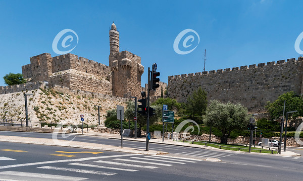 The Tower of David in Jerusalem During Corona Quarantine