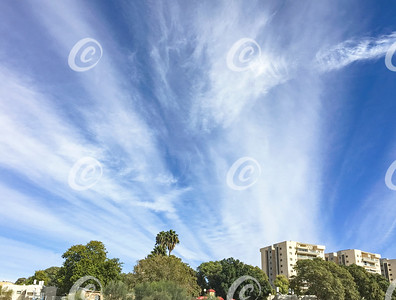 Winter Clouds over Arad, Israel