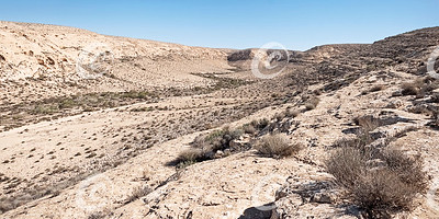 Wadi Noked in the Negev Highlands in Israel