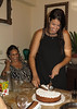 Arie's wife Gila & their daughter Sheli, the baking savant, cutting the best non-dairy chocolate mousse cake I will ever eat.