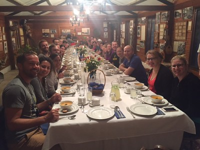 Pioneer dinner with the Aviran Family at Moshav Nahalal