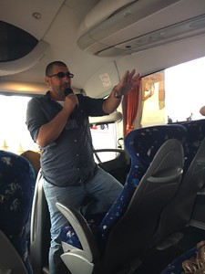 But bus rides are awesome thanks to the knowledge of our incredible guide Yoav