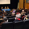 Part of the crowd of 150 people who attended the forum on solving the crisis in Palestine, held on November 18, 2007 at St. Francis College. The forum was organized by the Israel-Palestine committee of Brooklyn For Peace (formerly Brooklyn Parents for Peace).