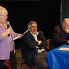 Carolyn Eisenberg, Co-Chair of Brooklyn For Peace (formerly Brooklyn Parents for Peace) moderates the forum at St. Francis College on Sunday November 18, 2007.