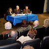 Visions for Peace in Israel - Palestine: a forum held on November 18, 2007 at St. Francis College in downtown Brooklyn. The forum was sponsored by the Israel-Palestine committee of Brooklyn For Peace (formerly Brooklyn Parents for Peace). Over 140 people attended the conference which featured (l-r) Daoud Kuttab, award-winning Palestinian journalist; Director, Modern Media Institute at Al Quds University in Ramallah, West Bank; currently a visiting professor at Princeton University, Joshua Friedman, Director of International Programs, Columbia School of Journalism; Recipient of the Pulitzer Prize for International Reporting and Larry Cohler-Esses joined The Jewish Week of New York, the country's largest Jewish paper, as its Editor-At-Large in summer of 2005.