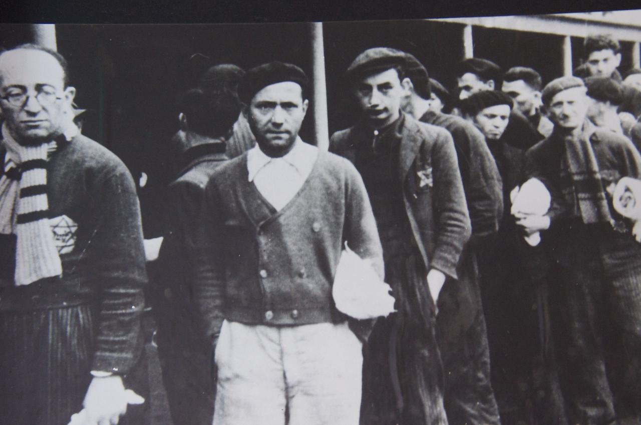 Men brought to Auschwitz.
