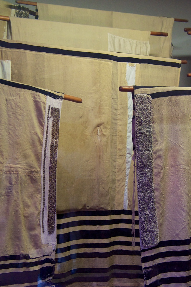 A few of the tallit collected...