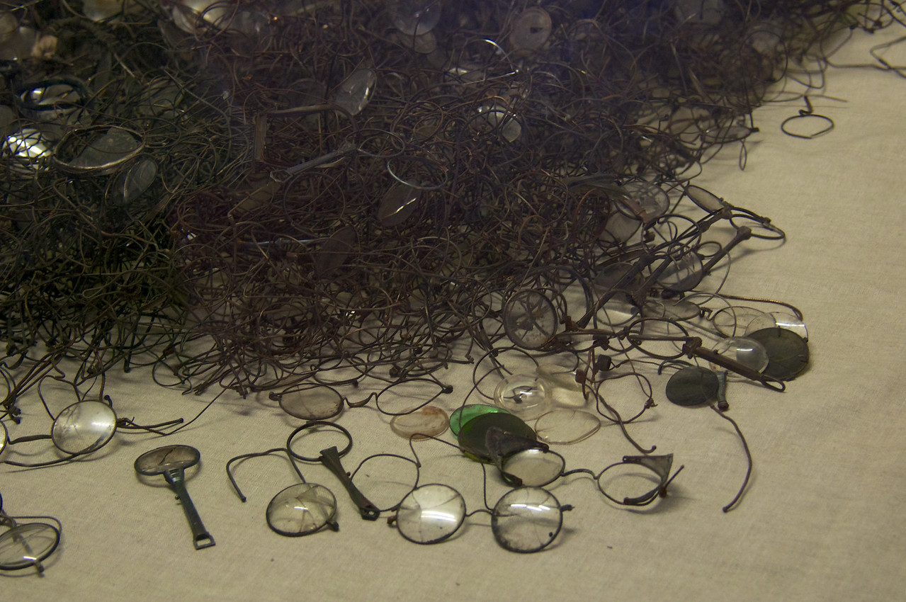 Eyeglasses collected from Jews...