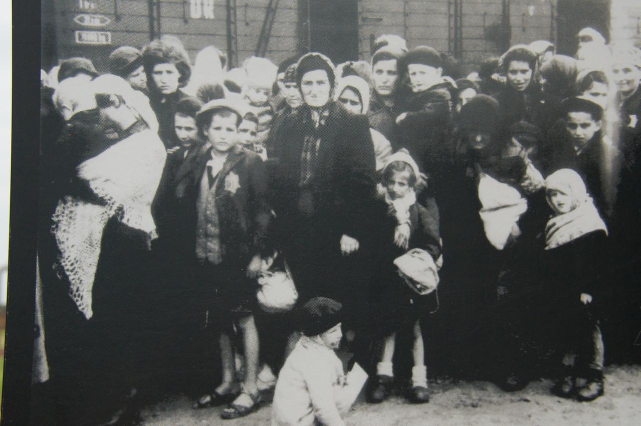 People arriving at Birkenau.