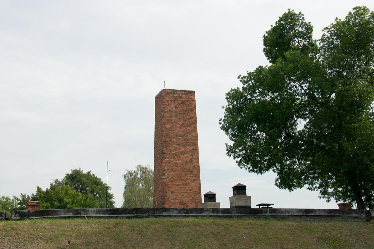 Roof of only crematorium remaining.