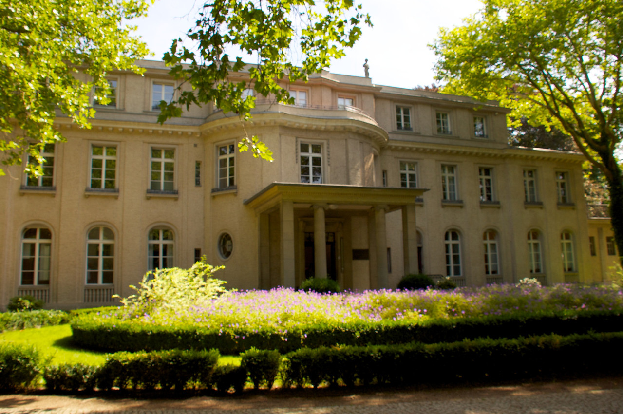 "Front of the House of The Wannsee Conference where German high command mapped out and decided ""The Final Solution"" for the Jews."