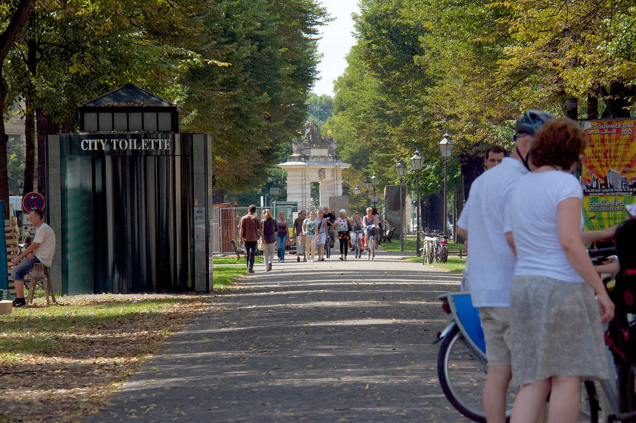 This path looks from Nauen Gate to Hunters Gate The path used to be the wall surrounding the city of Potsdam.