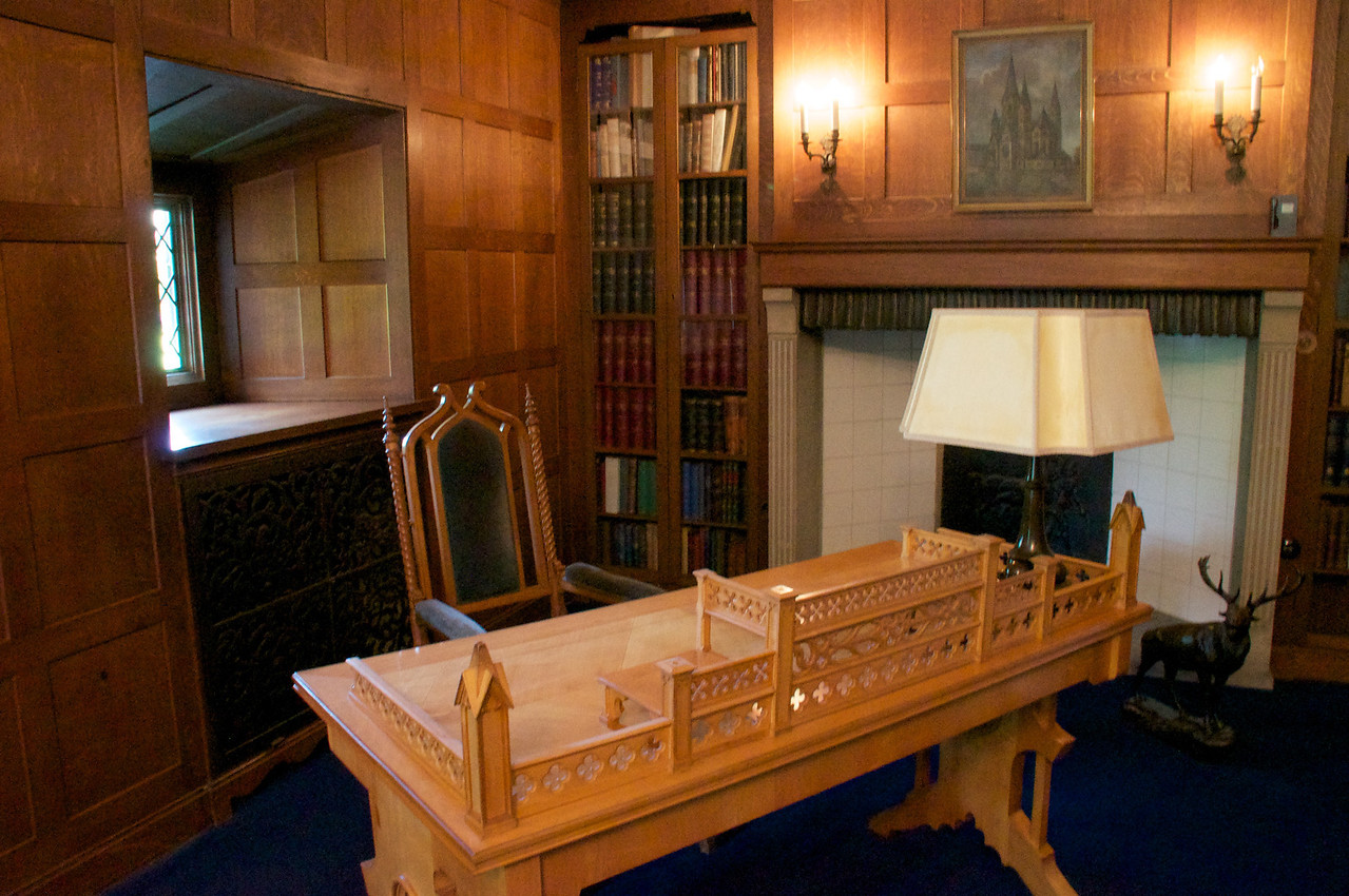 """Churchill's Office Churchill was here when he got a message, """"The baby is born"""" This was a reference to the atomic bomb."""