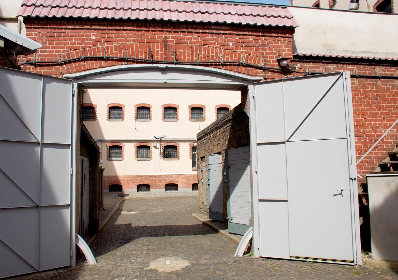 Stasi jail courtyard.