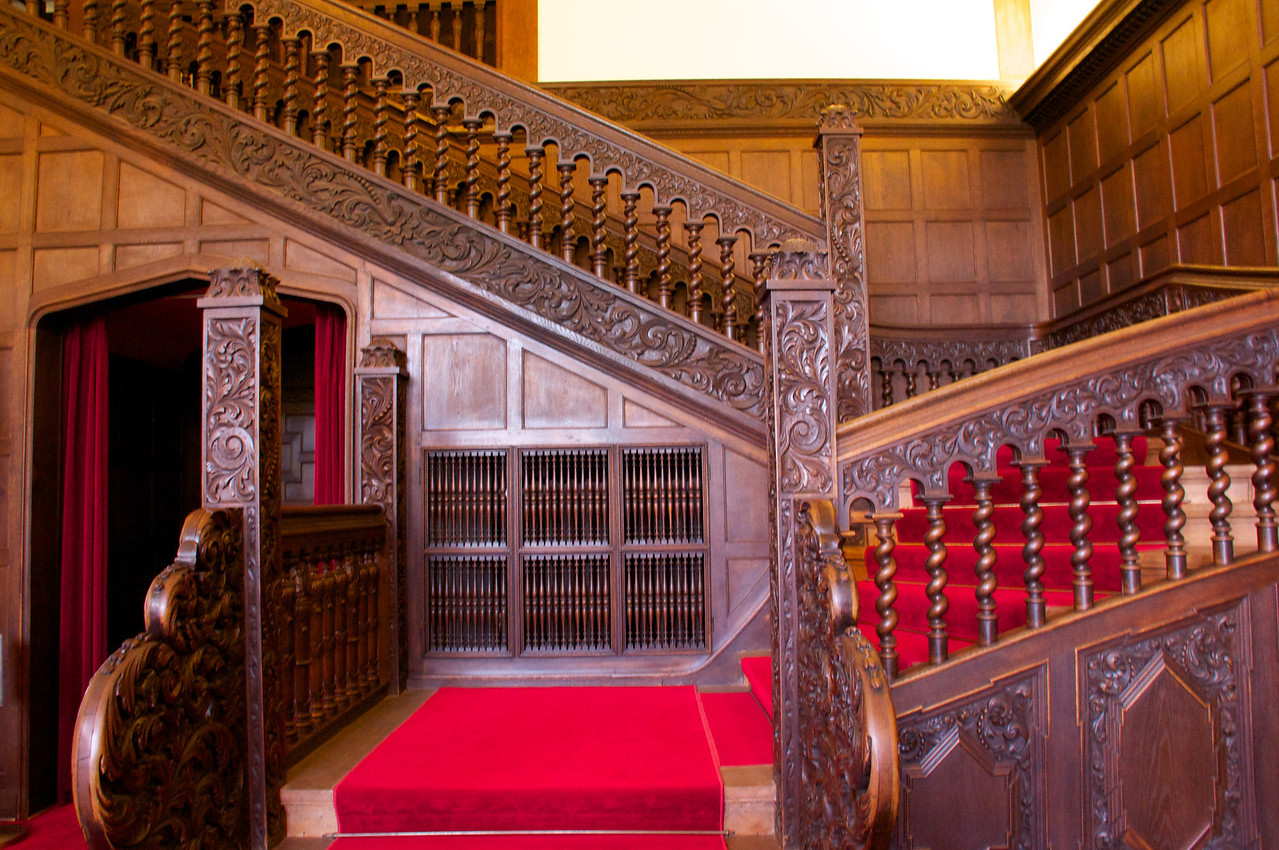 Staircase in room where Potsdam Conference took place.