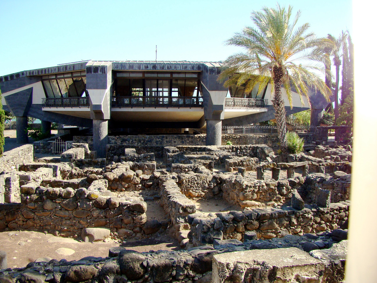 Capharnaum Town Remains with new Church above