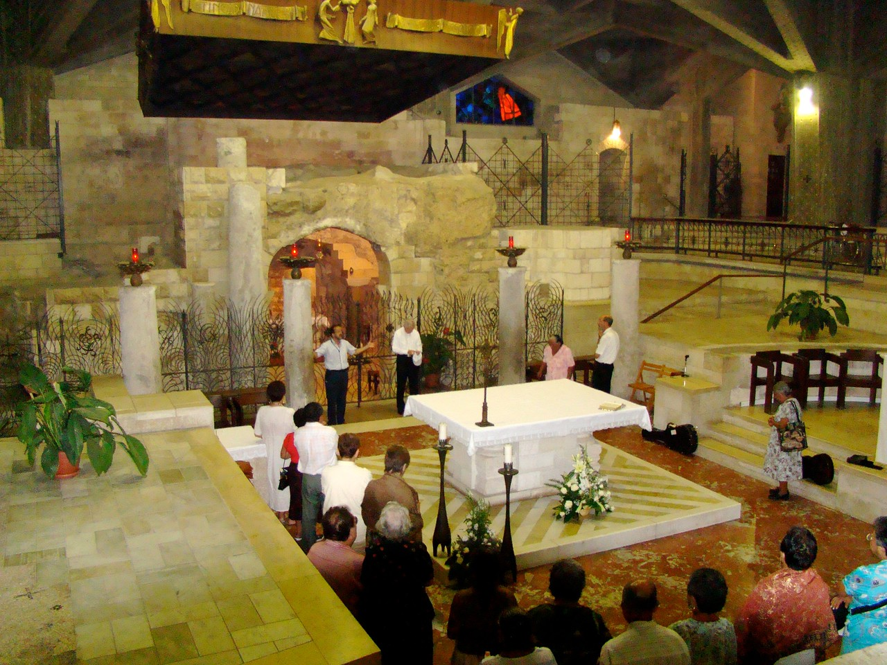 Franciscan Church of Annunciation-Far Wall Grotto(prayer service)