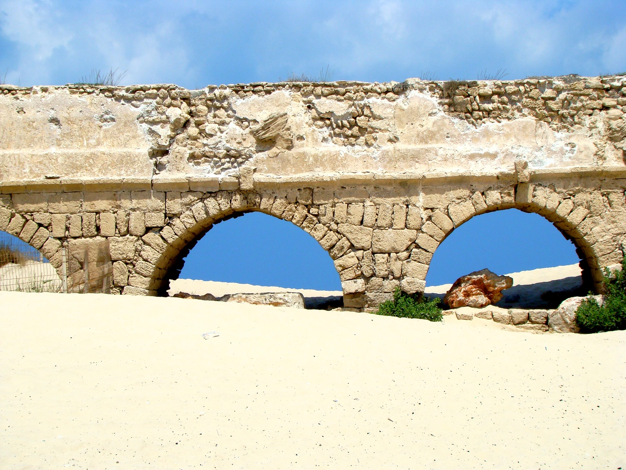 Caesarea-Aquaduct to Mediterrean