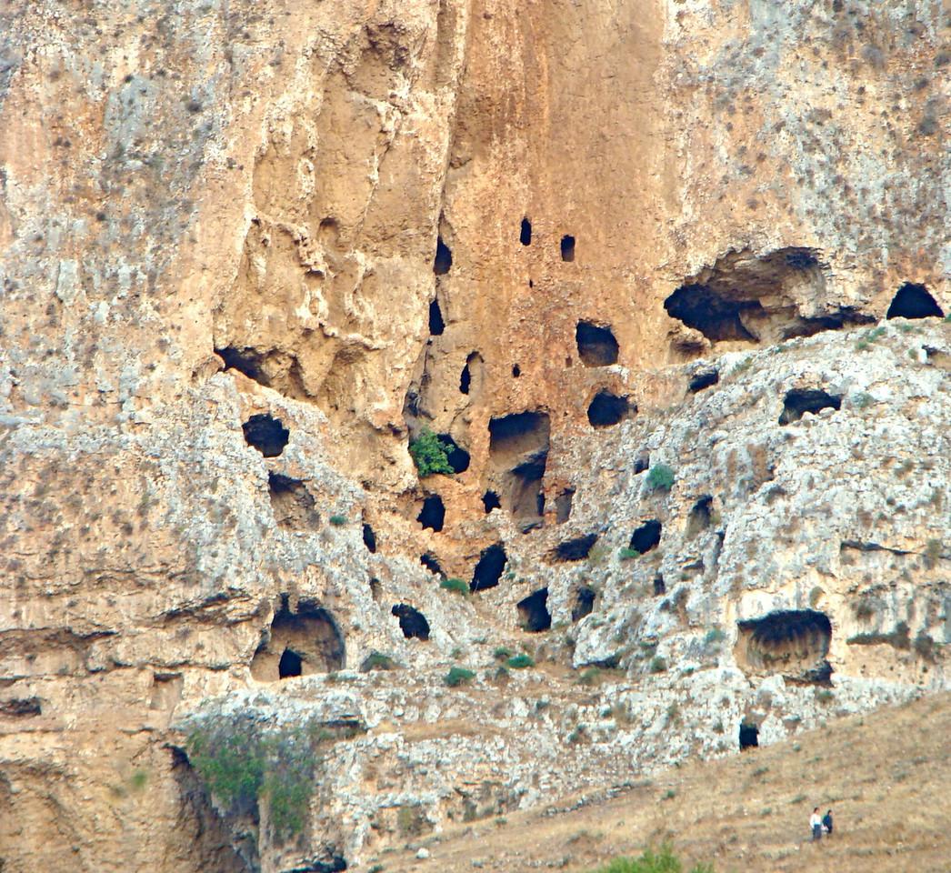 Caves on Mt  Arbel