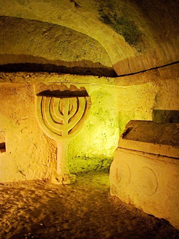 Menorah in  Burial Cave