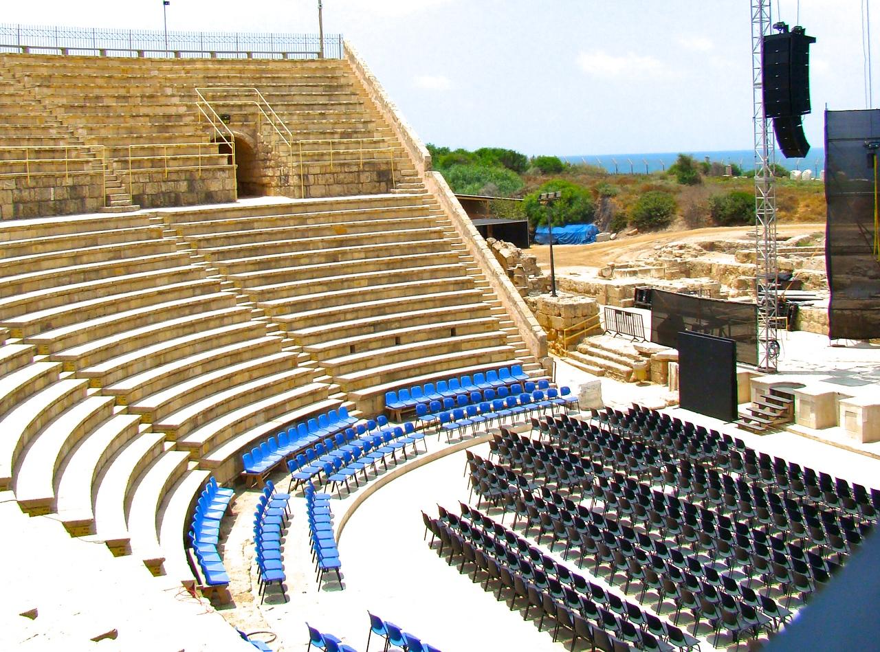 Caesarea-Roman Theatre   Old & New (1)