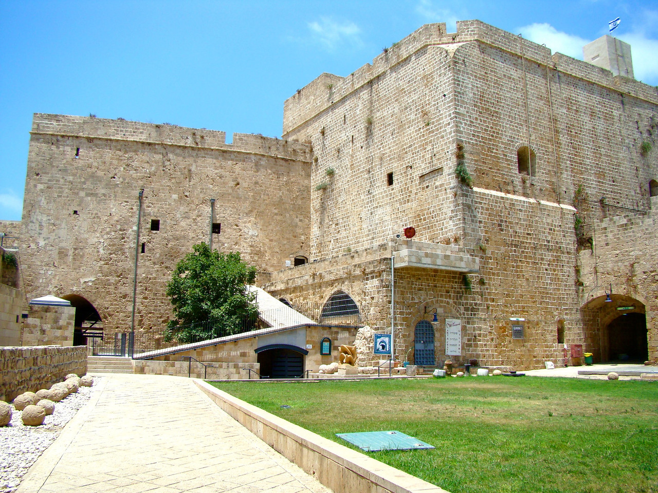 Fortress of St  John, prison,1948 Breakout contributed to British giving up control of Israel