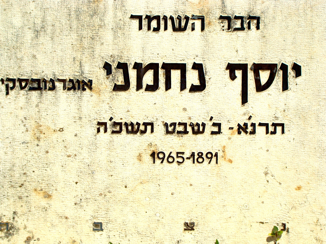 Tel Hai Cemetery- Haber Hashomer (Friend of Hashomer)