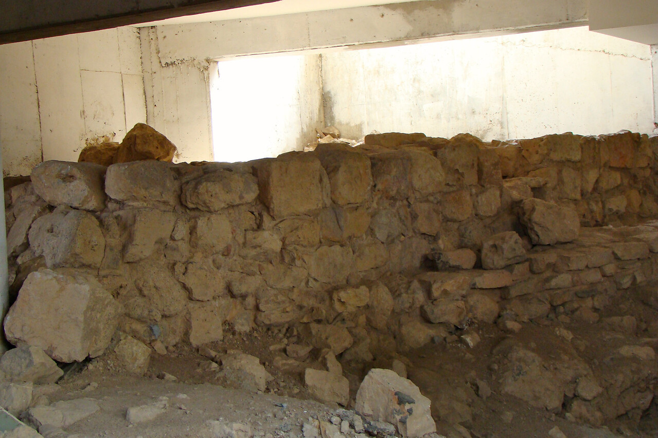 Wine Cisterns behind Wall (1,500 years old)