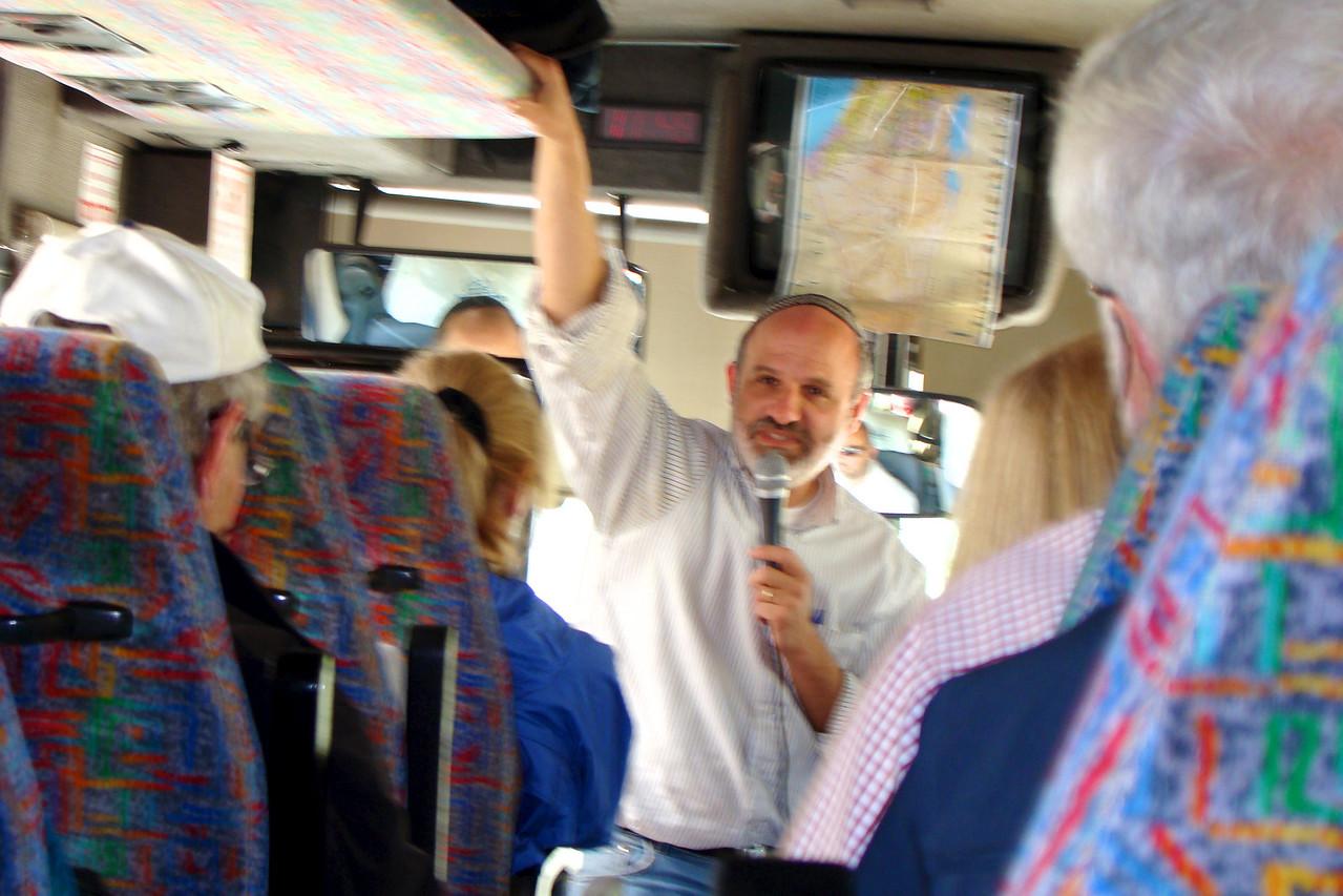 Rabbi Morrie Schwartz    Learning on Bus enroute