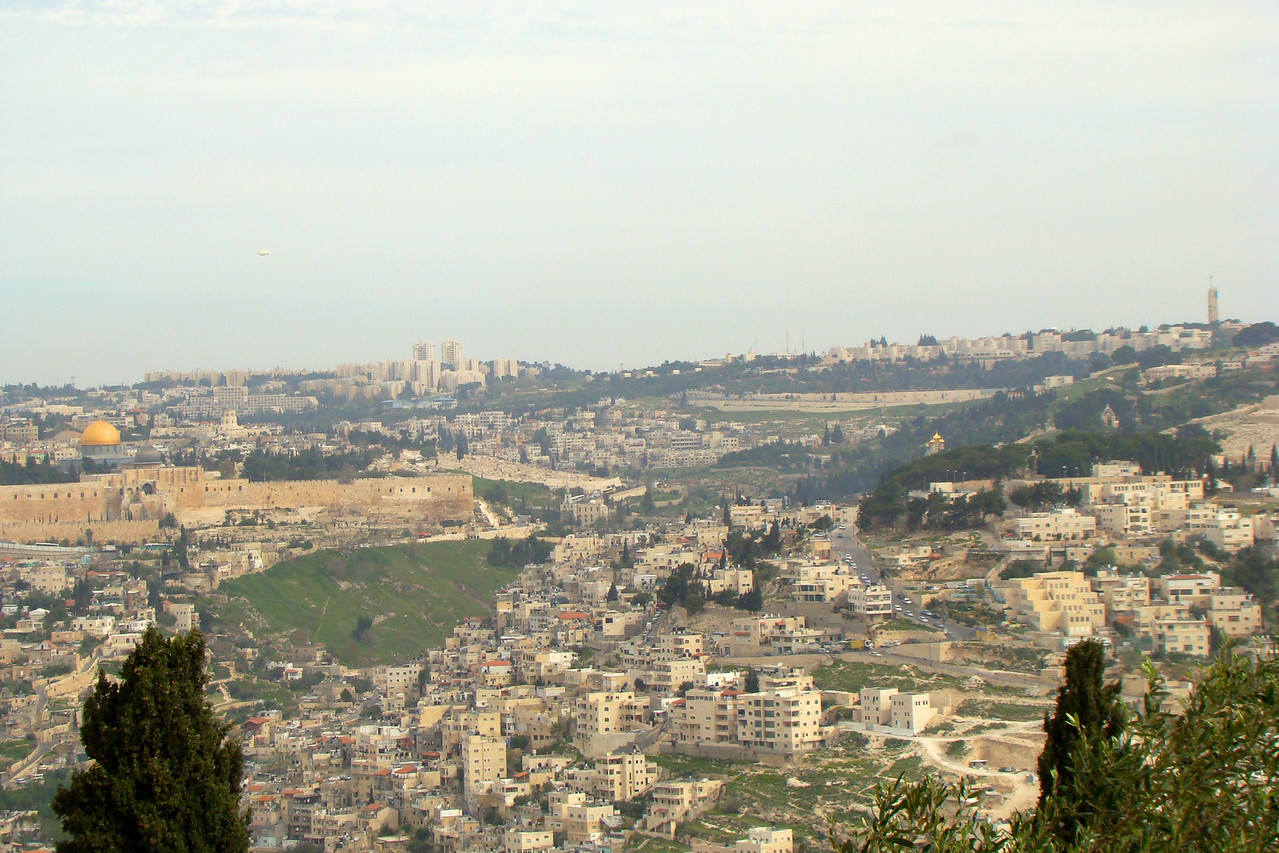 Old City, Valley was Desert in Biblical Times, Mount of Olives