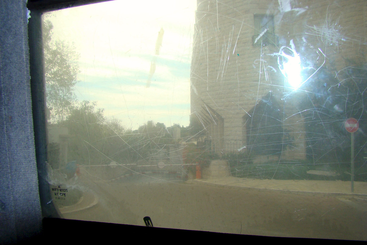 View Through Bullet Proof Window From Armored Bus
