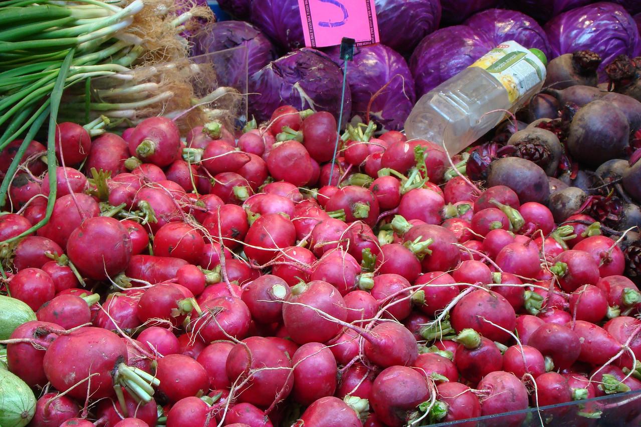 Carmel Market-Radishes